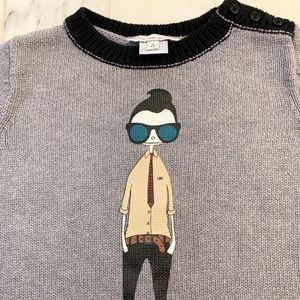 Little Marc Jacobs Shirts & Tops - Little Marc Jacobs grey hipster sweater - 4 years